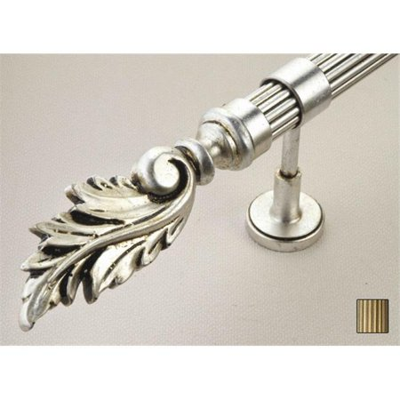Palas 1070 Curtain Rod Set - 1.25 in. - Black Silver - 63 in. - image 1 of 1