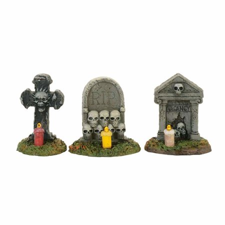 Dept. 56 Halloween Village 4057627 Spooky Graveyard Vigil 2017 Set 3 (Set Times Escape Halloween 2017)