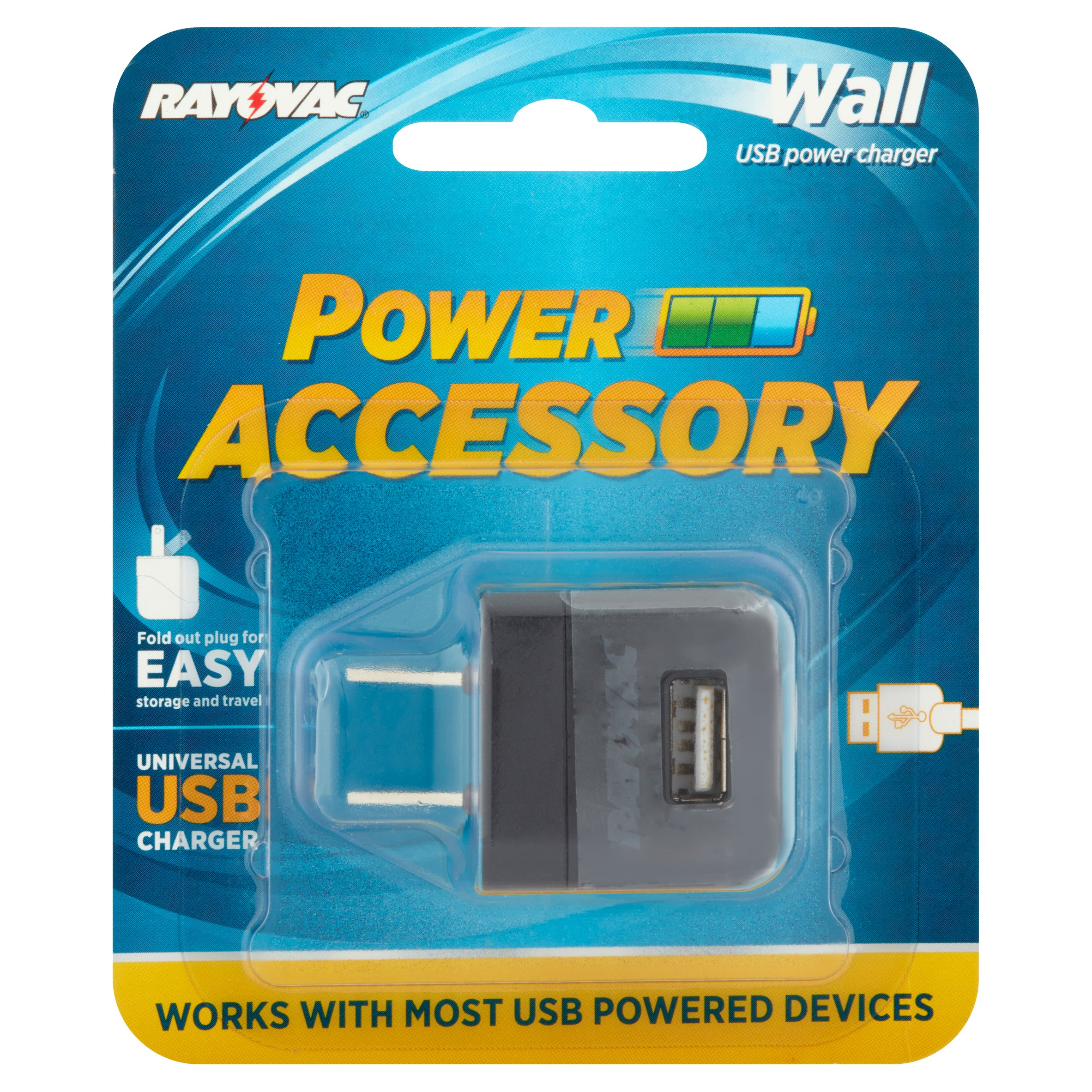 Rayovac Power Accessory Universal Wall USB Power Charger