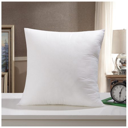 Magnificent Premium 16X16 White Cotton Feel Microfiber Square Sham Euro Sofa Bed Couch Decorative Pillow Insert Form Fill Stuffer Cushion Made In Usa For Pillow Caraccident5 Cool Chair Designs And Ideas Caraccident5Info