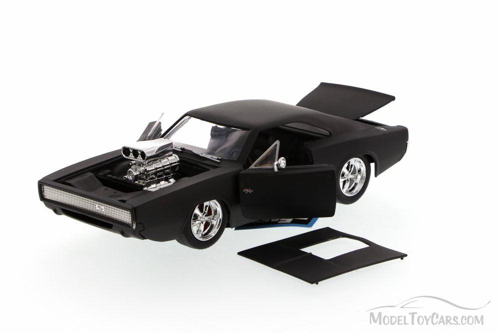 1970 Dodge Charger casi /& Furious 7 dom en 1:24 jada Toys 97174 negro mate