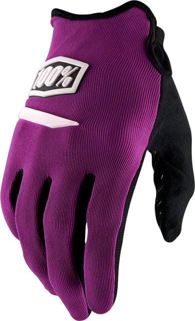 100/% Ridecamp Men/'s Full Finger Gloves Black LG
