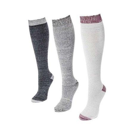2cda29675 MUK LUKS - Women's Microfiber Knee High Sock Pack (3 Pair) - Walmart.com
