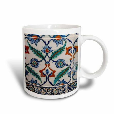 3dRose Asia, Turkey, Istanbul, Topkapi. Detail of famous palace Iznik tiles. , Ceramic Mug, 11-ounce