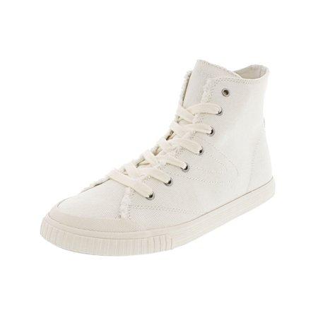 Tretorn Women's Marley Hi Denim Vintage White / High-Top Canvas Fashion Sneaker - 10.5M (Adidas Vintage Sneakers)