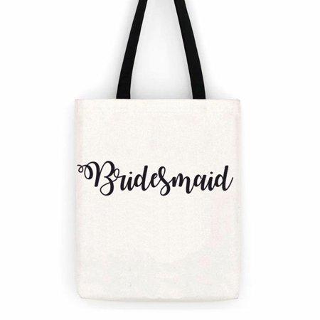 Bridesmaid Gift Bag Wedding  Cotton Canvas Tote Bag  Special Day Trip Bag (Bridesmaid Gift Bags)