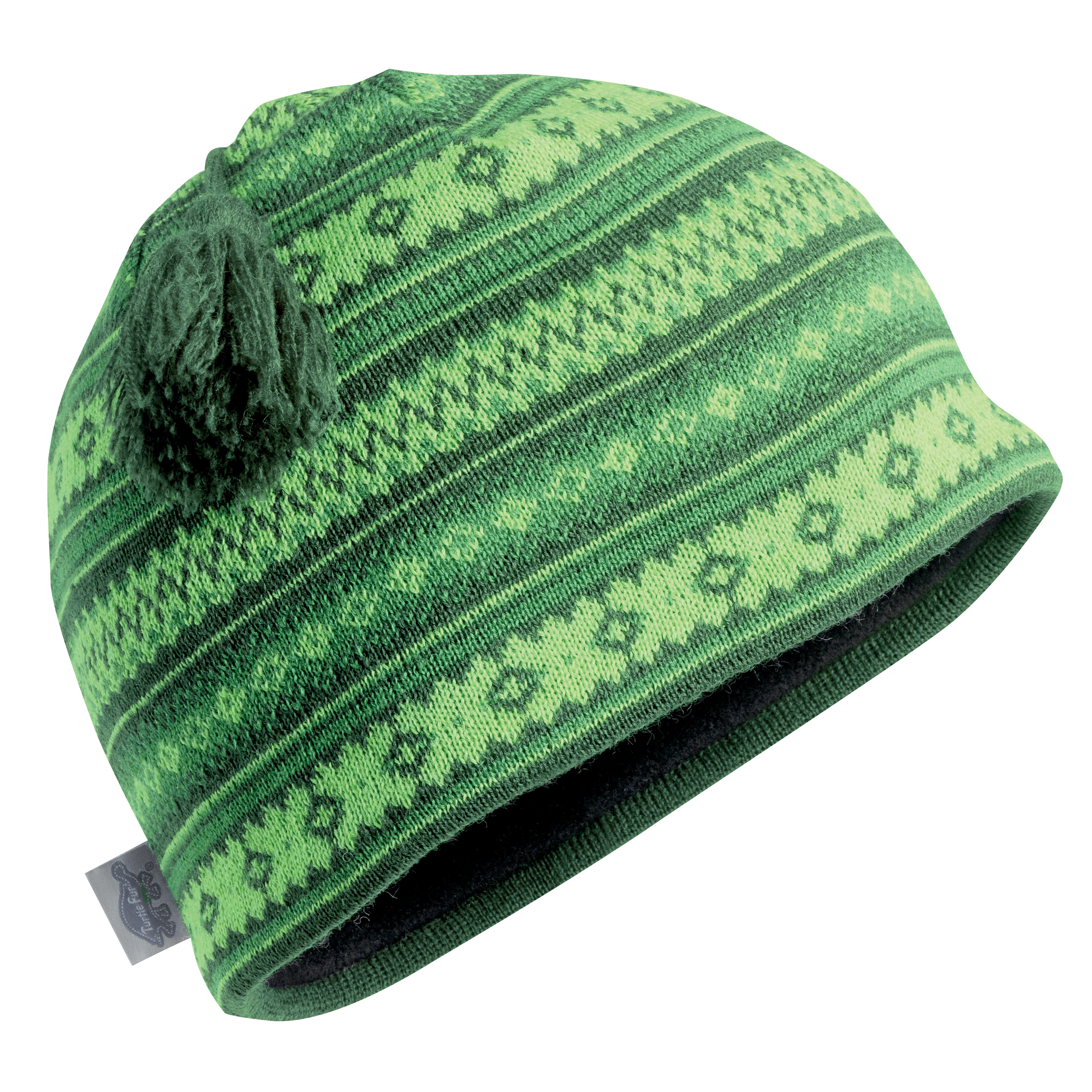 Turtle Fur Lift Line Merino Wool Nordic Style Knit Beanie, Fleece Lined Wool Hat