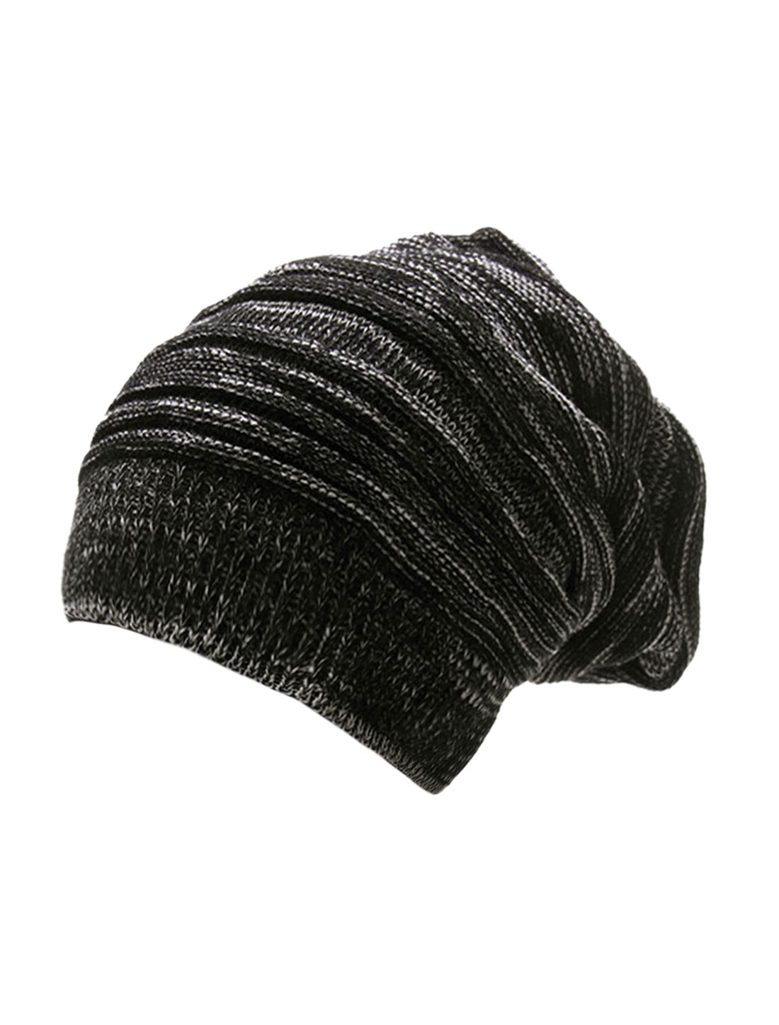 Mens Korean Stylish Warm Textures Design Knit Beanie Hat Black Off ... 2a4bf689978
