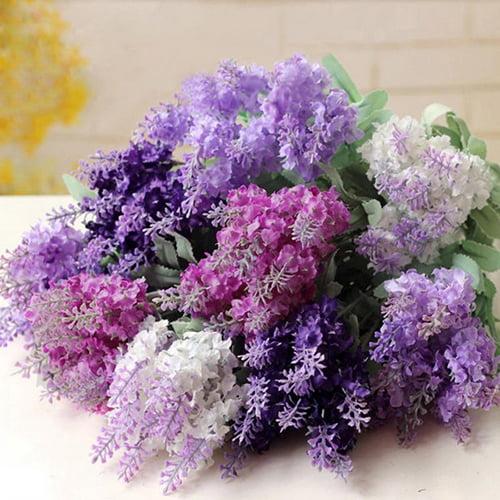 Moderna Artificial Flower Lavender Silk Flower Bouquet Wedding Home Party DIY Decor 10 Heads