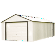 Steel Storage Shed 12 x 17 ft. High Gable Coffee/Almond