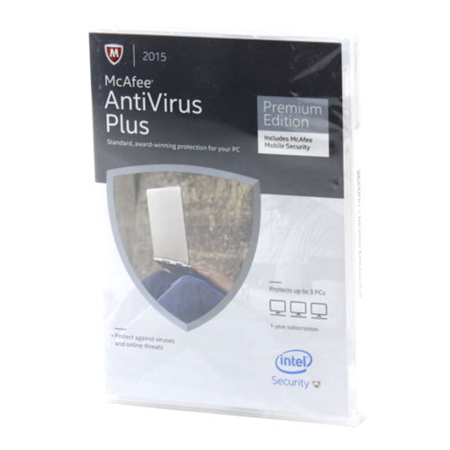 McAfee 2015 Antivirus Plus 3 PC Mobile Security