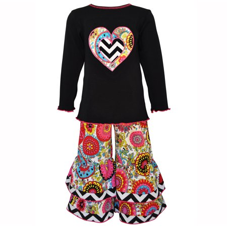Valentine's Day Fabulous Floral Heart Knit Tunic and (50's Day Outfits)