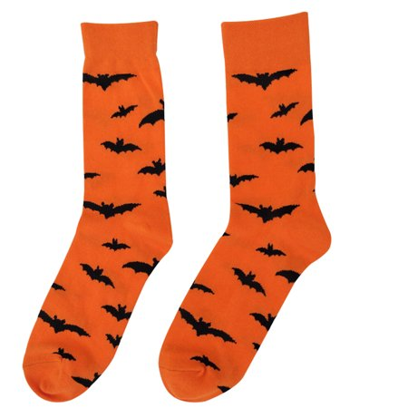 1 Pair Soft Winter Cotton Socks Halloween Full Pumpkin Bat Printed Crew Sock Holiday Party Accessories](Bts Halloween Party Full)