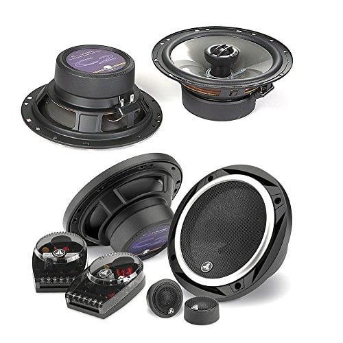 "JL Audio C2-650 450W 6.5"" 2-Way Evolution C2 Series Component Car Speakers System + JL Audio C2-650x 450W 6.5"" 2-Way Evolution C2 Series Coaxial Car Speakers - Bundle Speaker Package"