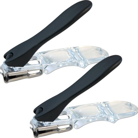 (Set/2) Ergonomic Design Rotary Nail Clippers Easily Trim Finger & -