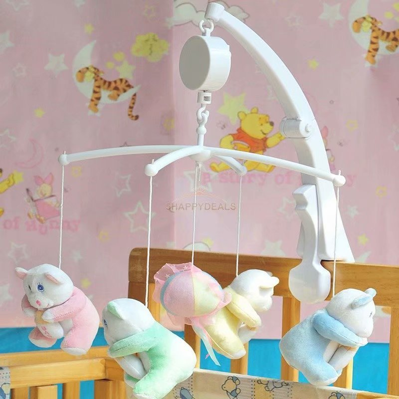 Rotary Baby Crib Mobile Bed Bell Toy Holder Arm Bracket Hanging Music Box White by VicTsing