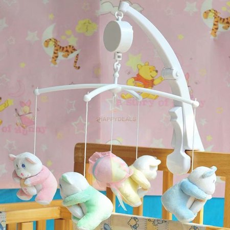 Rotary Baby Crib Mobile Bed Bell Toy Holder Arm Bracket Hanging
