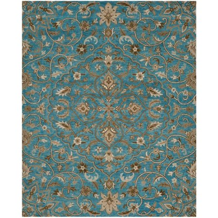 Safavieh Bella 6' X 9' Hand Tufted Wool Pile Rug in Blue and Taupe - image 1 de 1