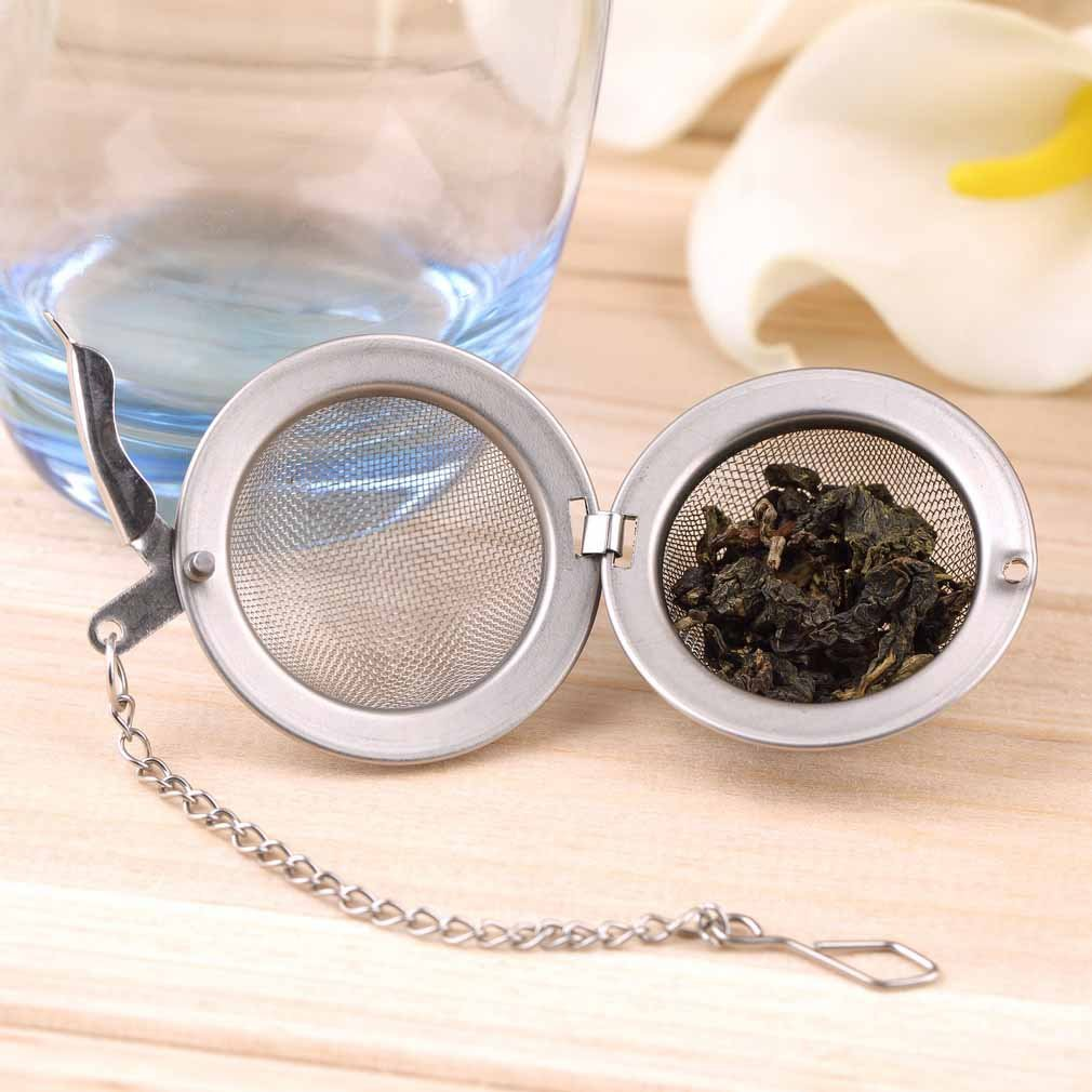 Stainless Steel Sphere Locking Spice Tea Ball Strainer Mesh Infuser tea strainer Filter infusor Mesh Herbal Ball cooking tools by
