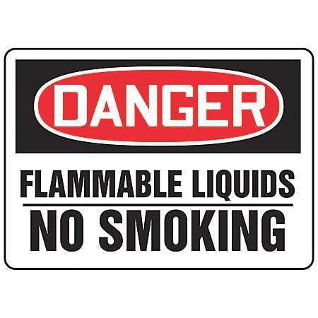 "Danger No Smoking Sign, Accuform Signs, MCHL078VA, 10""Hx14""W"