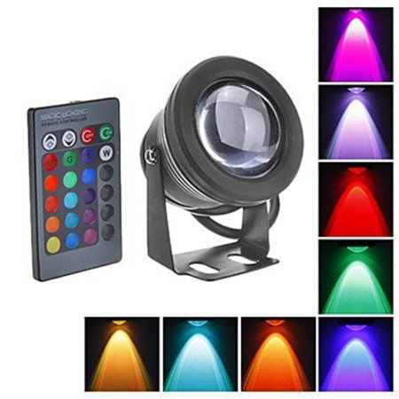 Color Changing 10W RGB LED Flood Light Project Lamp 16 Colors DC12V Architectural Lighting with Remote