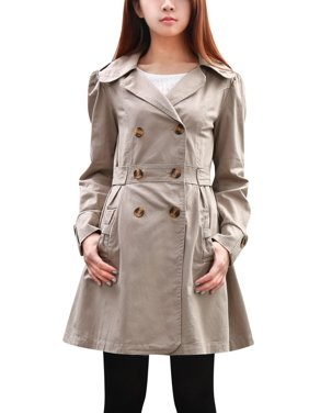 beb8fa5cdb Product Image Long Sleeve Notched Lapel Belted Trench Jacket for Lady