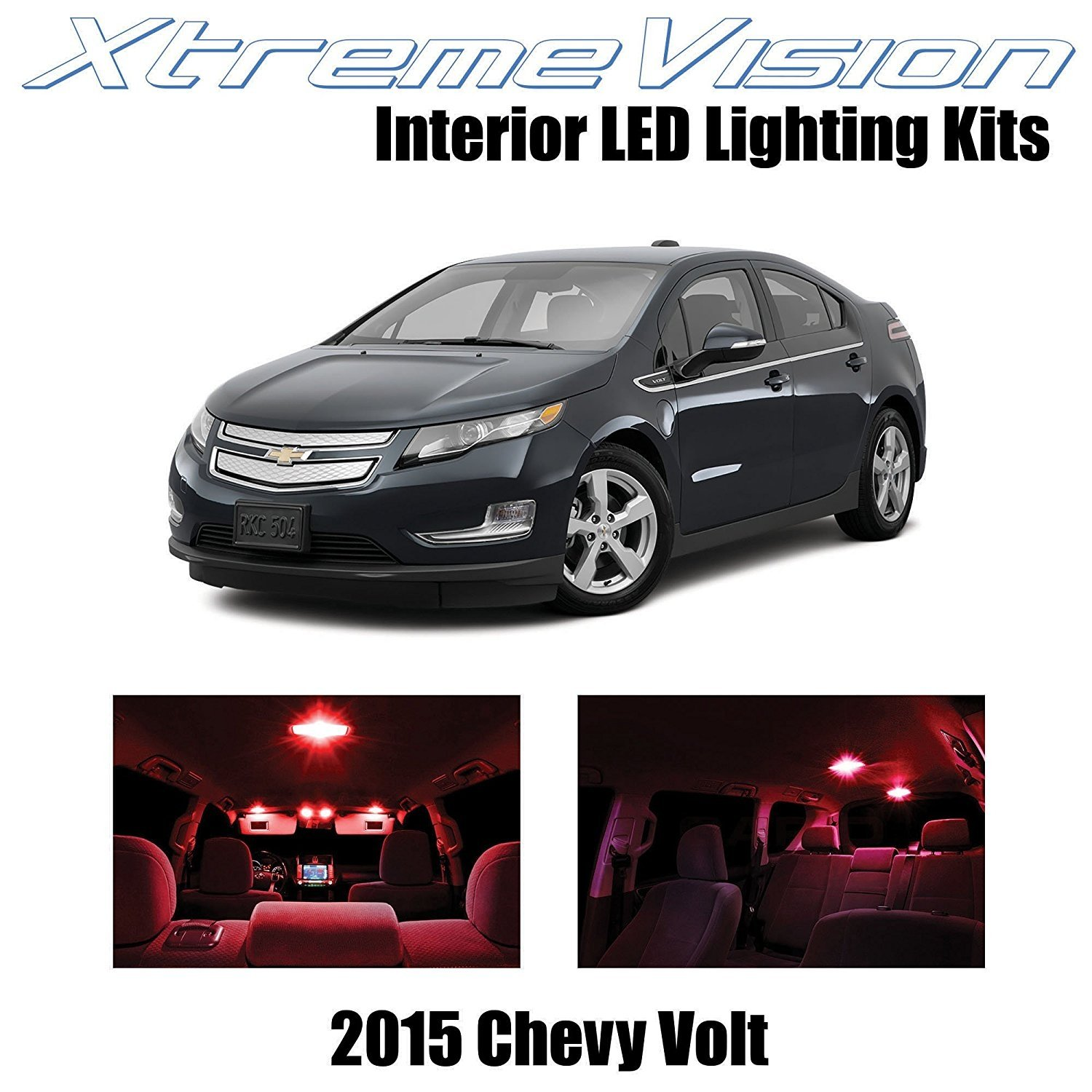 XtremeVision LED For Chevy Volt 2015+ (12 Pices) Red