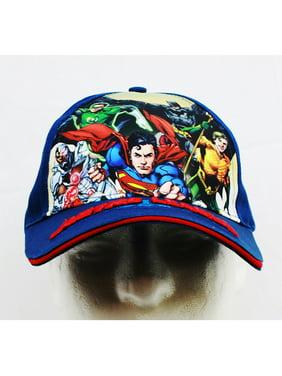 Baseball Cap - DC Comics - Justice League Blue (Youth/Kids) New JL777