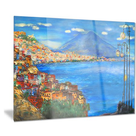 DESIGN ART Designart 'Saturday Night Sea' Landscape Painting Metal Wall Art - Saturday Night Fever Suit