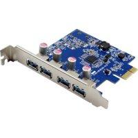 4PORT USB 3.0 X1 PCIE BUS POWERED INTERNAL CARD