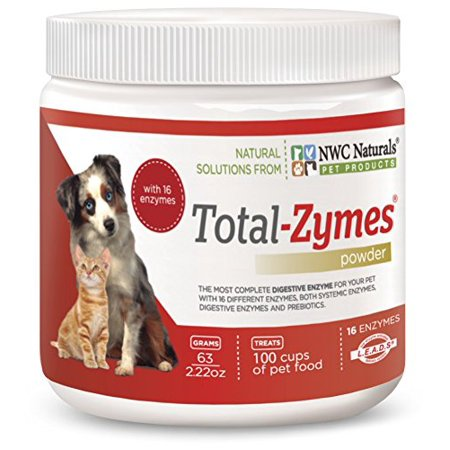NWC Naturals- Total-Zymes - Enzymes for Canines and Felines - Treats 100 Cups of Pet Food (Vegetarian Formula) - Vegetarian Halloween Treats