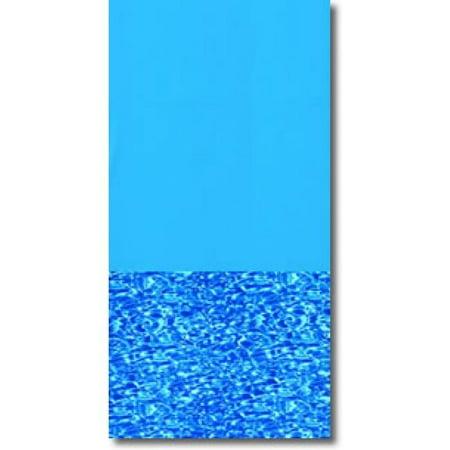 24 Round 20 Ga. Blue Swirl Bottom Overlap (Round Flat Bottom Overlap Liner)