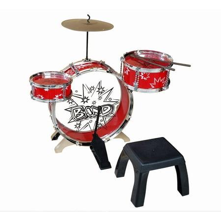 Kiddy Jazz Drum Set with Stool (Best Small Jazz Drum Kit)