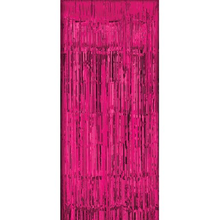 Hot Pink Tinsel Foil Fringe Door Window Curtain Party Decoration 37