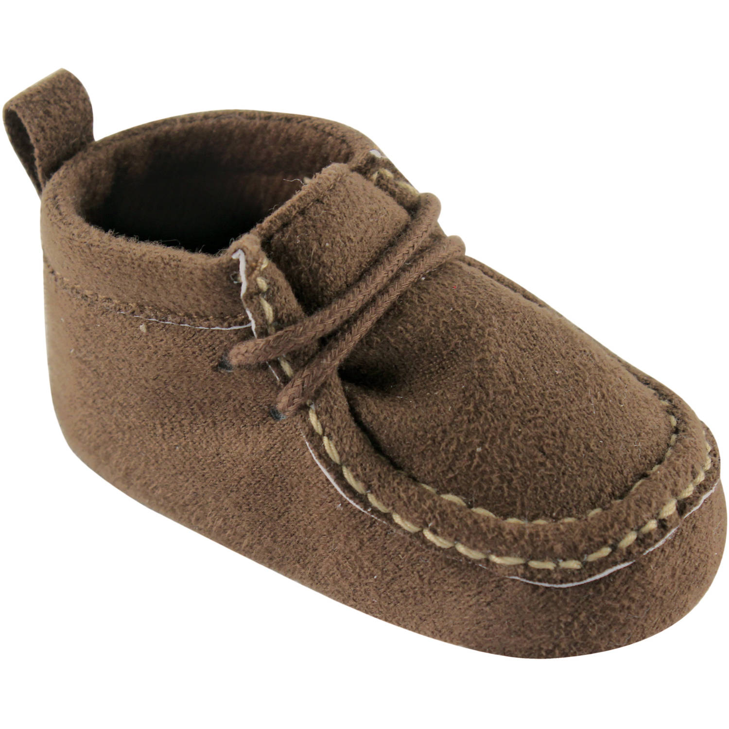 Luvable Friends Newborn Baby Boys Suede Show