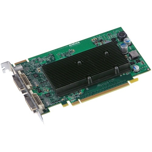 Matrox M9120-E512F Matrox M9120 Graphic Card - 512 MB DDR2 SDRAM - PCI Express x16 - 2048 x 1536 - DirectX 9.0, OpenGL 2.0 - 2 x Total Number of DVI - 2 x Monitors Supported