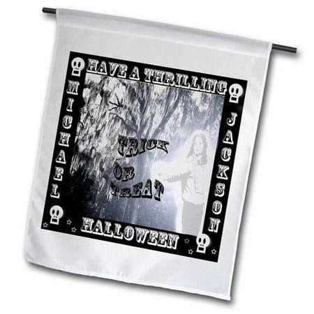 3dRose Michael Jackson Thriller Halloween Greeting Polyester 1'6'' x 1' Garden (Jackson's Halloween Tampa Fl)
