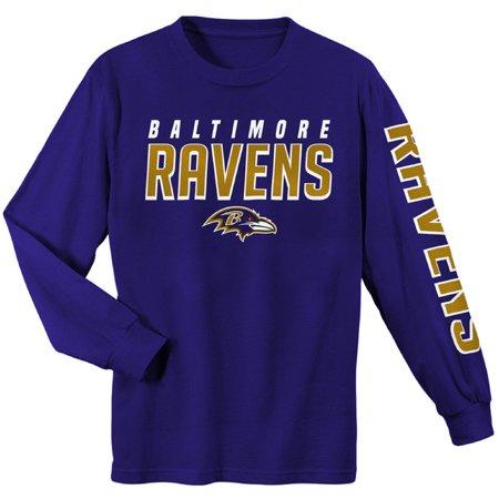 Youth Purple Baltimore Ravens Sleeve Hit Long Sleeve - Baltimore Ravens Colors