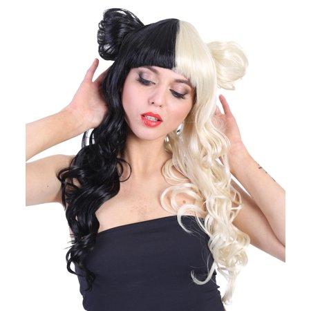 American Singer Bun Wig, Blonde & Black Adult (Black American Wigs)