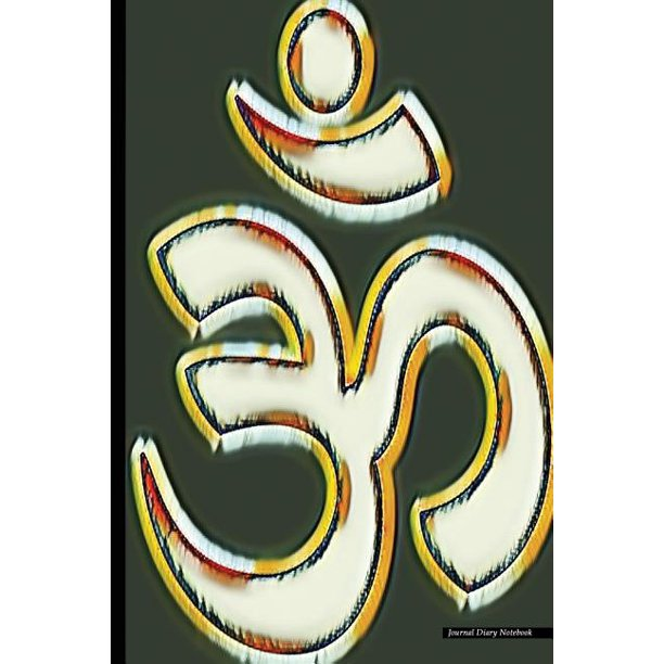 Journal Diary Notebook : Abstract Art, Om Symbol Print, 6