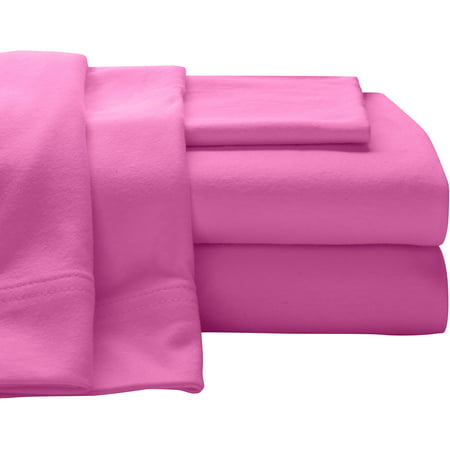 (Super Soft 100% Cotton Jersey Sheet Set)