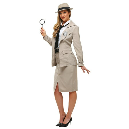 Adult Miss Private Eye Plus Size (Women's Private Eye Costume)