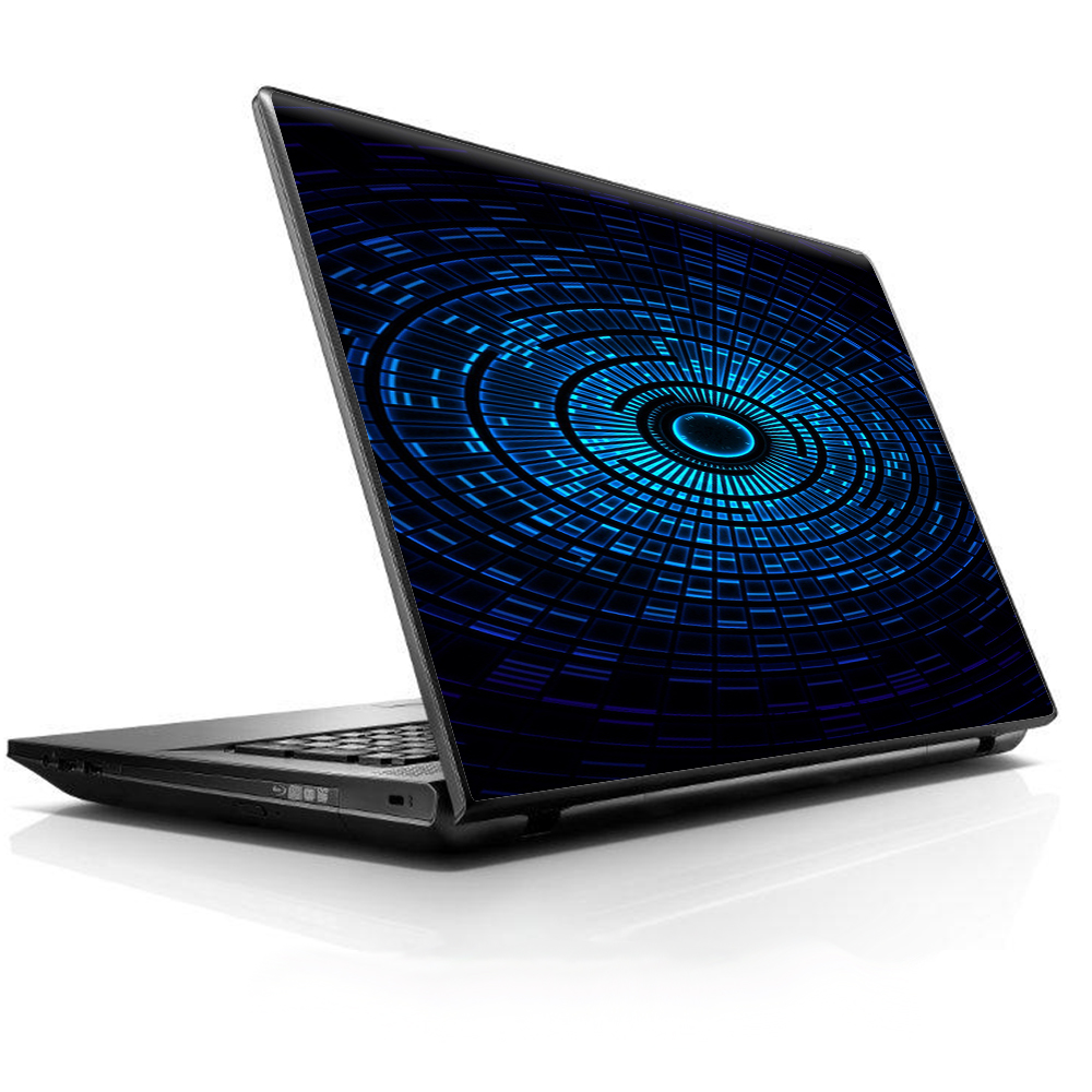 "Laptop Notebook Universal Skin Decal Fits 13.3"" To 16"" / Abstract Blue Vortex"