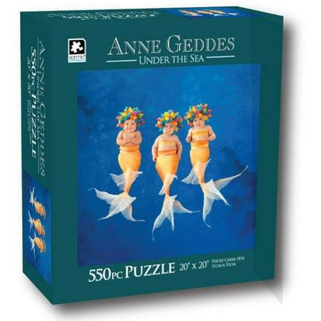Anne Geddes 550-Piece Puzzle, Baby Mermaids