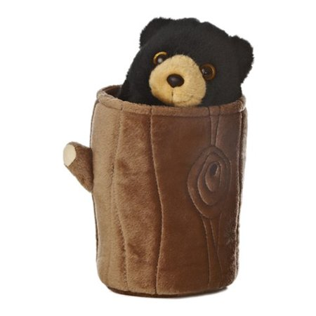 Plush - Black Bear Pop Up Puppet - 11