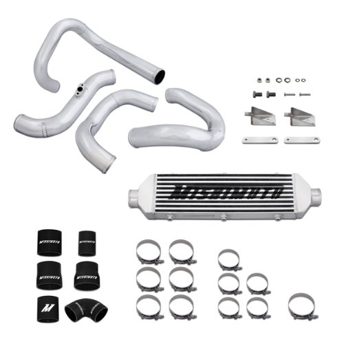 Mishimoto MMINT-GEN4-10SL Silver Turbo Intercooler and Piping Kit for Hyundai Genesis