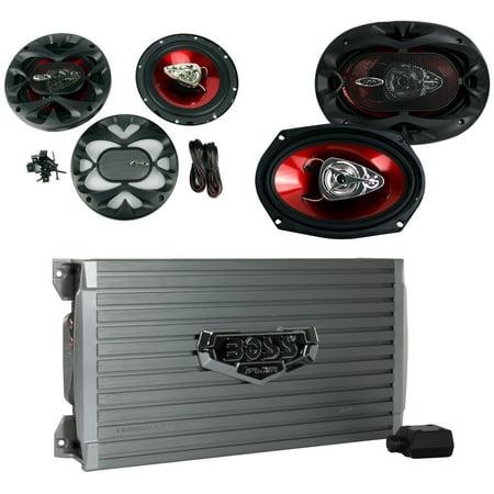 BOSS AUDIO AR1600.4 1600W 4 Channel Car Amplifier Amp+Remote+ 6.5