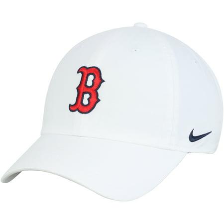 Boston Red Sox Nike MLB Heritage 86 Adjustable Hat - White - (Nike Running Hat)