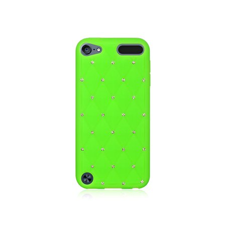 Media Player Accessories Dream Wireless iPod Touch 5,6 Green High End Studded Diamond Skin Case (Multipack of 6)
