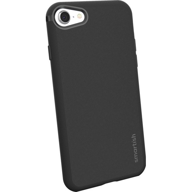Smartish iPhone 7 / 8 / SE (2020) Slim Case - Kung Fu Grip [Lightweight Protective] Thin Cover for Apple iPhone SE 2020 & iPhone 7/8 (Silk) - Black ...